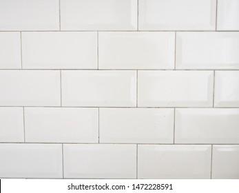 White clean subway ceramic background pattern