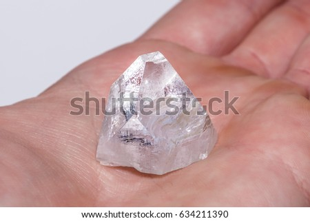 White Clear Crystal Diamond Gemstone Gem Stock Photo (Edit Now