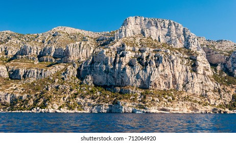 The white cliff of the Calanques near Cassis (Provence, France)