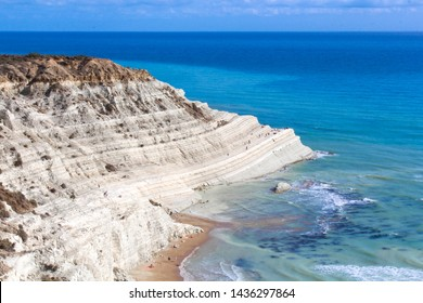 "White cliff called ""Scala dei Turchi"" in Sicily, near Agrigento. Italy - Europe"