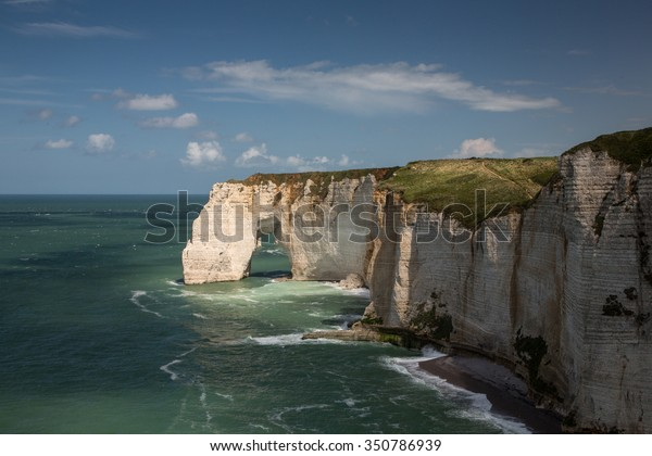 White Cliffs Etretat Normandy France Stock Photo Edit Now 350786939