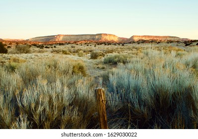 The White Cliffs of Gallup NM at sunrise on a cold winter's day.