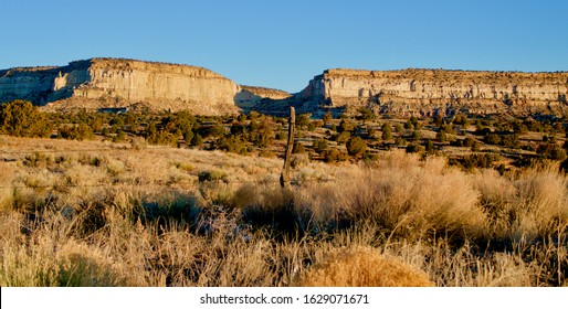 The White Cliffs of Gallup NM at sunrise on a cold winter's day from White Cliffs Road.