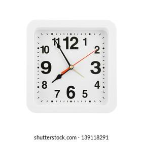 White clock isolated