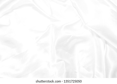 White cloth background abstract with soft waves. white texture.