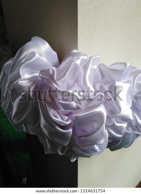 White Cloth Make Beautiful Flowers Stock Photo Edit Now 1314631754