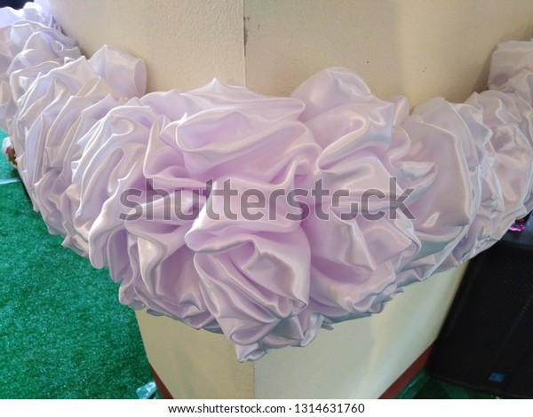 White Cloth Make Beautiful Flowers Stock Photo Edit Now 1314631760