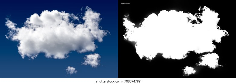 White cloud with alpha channel