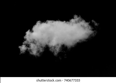 White cloud with  black background.