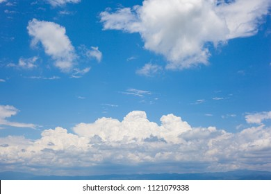 White cloud and blue sky.