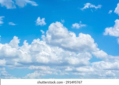white cloud with the blue sky