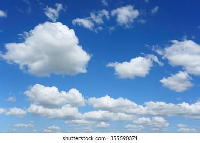 white cloud and blue sky,beautiful sky