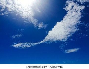 White cloud in the blue sky.Thailand