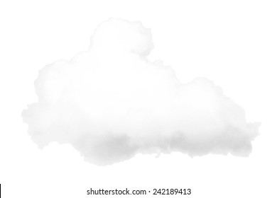 White cloud isolated on the white background