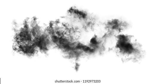 white cloud Isolated on white background,Smoke Textured,brush effect
