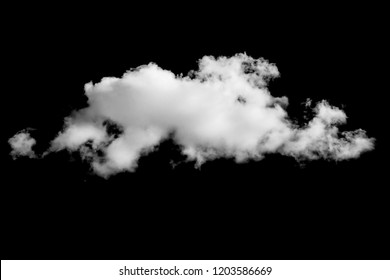 White cloud on black background. Template for design