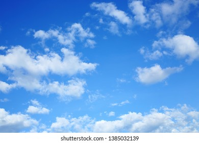 white cloud on blue sky in the morning, clear weather day background