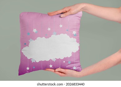 White cloud on the pink pillow - Shutterstock ID 2026833440