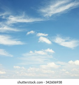 White clouds background
