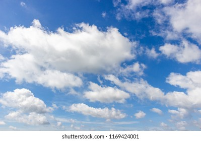 White clouds and blue sky