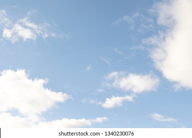 White clouds in the blue sky, daytime blue sky background.