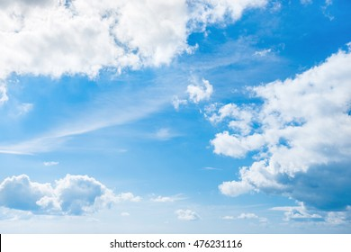 White clouds and blue sky for nature background