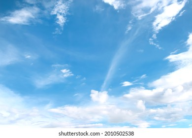 White clouds with breeze vast bright bluesky background