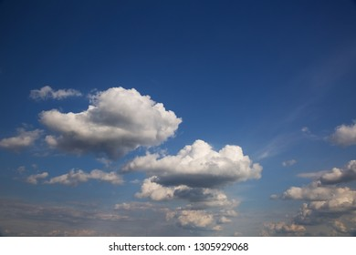 White clouds on blue sky,