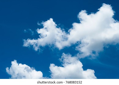 White clouds on blue sky in Brazil
