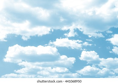 White clouds in the sky.