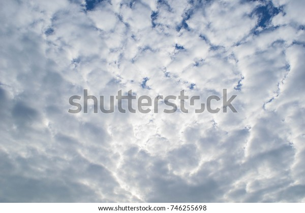White clouds in the sky