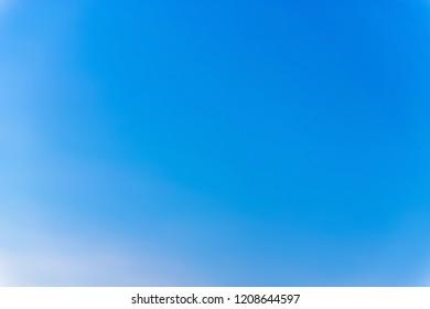 White Clouds in Summer Blue Sky.
