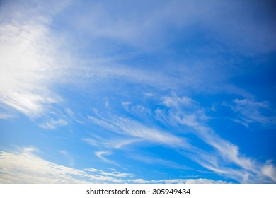 White cloudscape and blue sky backgrounds