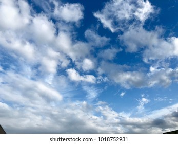 White cloudy at the blue sky