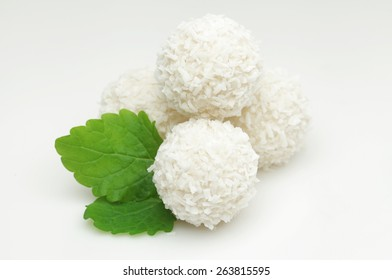 White coconut candy