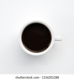 white coffee cup isolated.