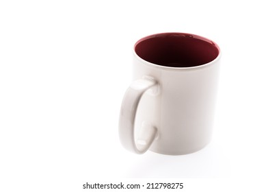 White coffee cup isolated on white