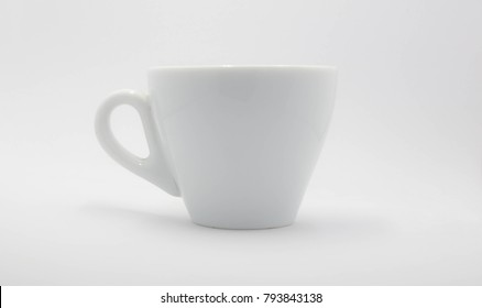 white coffee cup  on white background.