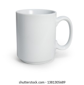 White coffee mug isolated on white with clipping path