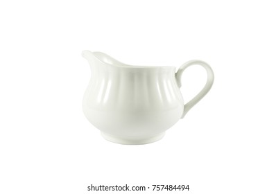White Coffee pot,White Tea pot Isolated on white background including clipping path