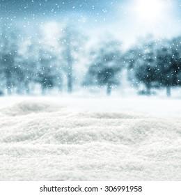 white cold snow