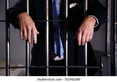 White collar criminal in jail for financial crimes