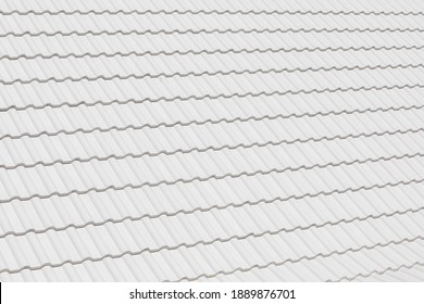 white color clay tile roof texture background