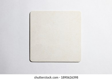 White color coaster. İsolated for beer or other drinks, cleaned for message