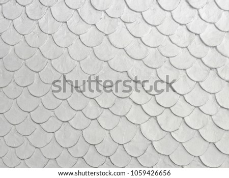white color fish scale mortar plastering stock photo edit now