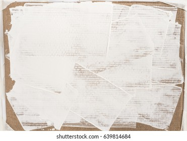 White color painting on paper texture art backgrounds