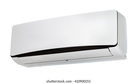 White colored air condition isolated on white background
