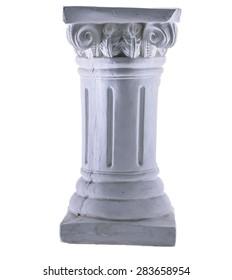 White Column Isolated
