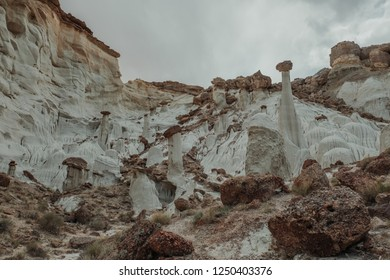 White Columns known as Wahweap Hoodoos in Grand Staircase-Escalante National Monument in Utah