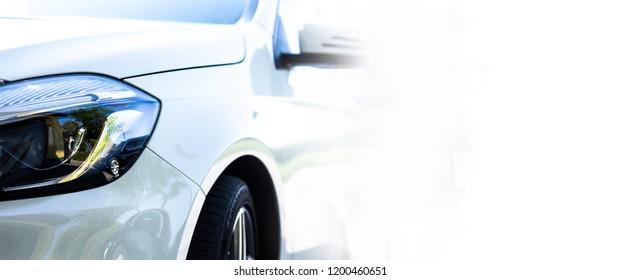 White company car